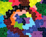 The cheerful wall mosaic Stock Photography