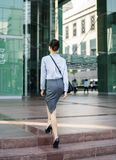A cheerful white young asian working woman concept Royalty Free Stock Photography