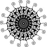Cheerful widely fly petals flower mandala stock illustration