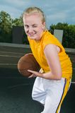Cheerful winking teenage girl Stock Photography