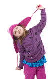 Cheerful Winter Girl Royalty Free Stock Photography