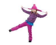 Cheerful Winter Girl Stock Image