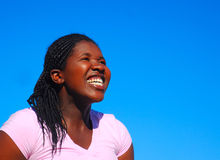Cheerful woman Royalty Free Stock Images