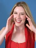 Cheerful Woman Royalty Free Stock Photos