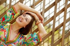 Cheerful woman Stock Photos