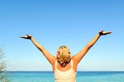 Cheerful woman Stock Photos