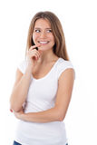 Cheerful woman attracted Stock Image