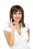 Cheerful woman having exciting idea Royalty Free Stock Photos