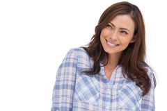 Cheerful woman looking away Stock Photo