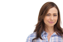 Cheerful woman looking to the camera Stock Photography