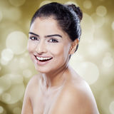 Cheerful woman with perfect beauty skin Royalty Free Stock Image