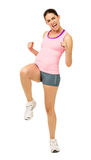 Cheerful Woman Performing Zumba Dance Royalty Free Stock Image