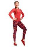 Cheerful woman in sportswear Royalty Free Stock Photo