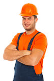 Cheerful worker man Royalty Free Stock Image