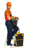 Cheerful workman Royalty Free Stock Images