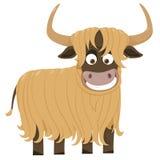 Cheerful yak. The Vector illustration Stock Photos