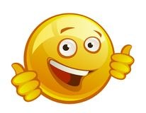 Cheerful yellow smiley Stock Images