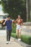 Cheerful youg couple stock images