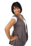 Cheerful Young African American Business Woman Stock Photos