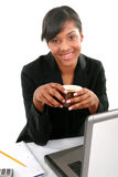 Cheerful Young African American Businesswoman Stock Photos