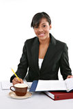 Cheerful Young African American Female in Office Stock Image
