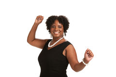 Cheerful Young African American Woman Expression Stock Images