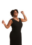 Cheerful Young African American Woman Expression Stock Photo