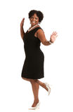 Cheerful Young African American Woman Expression Stock Photos