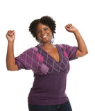 Cheerful Young African American Woman Expression Royalty Free Stock Image