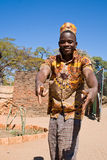 Cheerful young African man dancing. Royalty Free Stock Photography