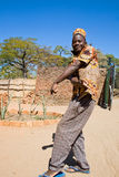 Cheerful young African man dancing. Stock Photo