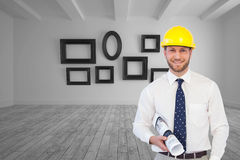 Cheerful young architect posing Stock Photography