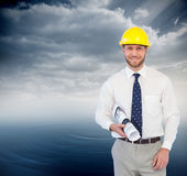 Cheerful young architect posing Stock Image