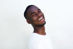 Cheerful young black guy laughing Royalty Free Stock Photography