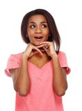 Cheerful young black woman Royalty Free Stock Image