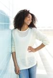 Cheerful young black woman Royalty Free Stock Images