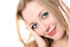 Cheerful young blond lady Royalty Free Stock Image