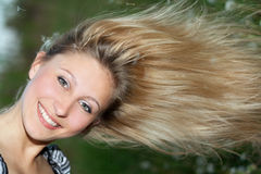 Cheerful young blonde Royalty Free Stock Images