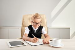 Taking notes stock photography