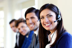 Cheerful young businesspeople Royalty Free Stock Photos