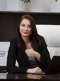 Cheerful young businesswoman Stock Photography