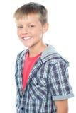 Cheerful young caucasian boy posing Stock Image