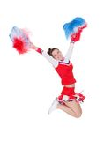 Cheerful young cheerleader Royalty Free Stock Images