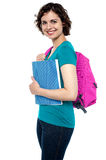 Cheerful young college student Royalty Free Stock Images