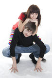 The cheerful young couple Royalty Free Stock Image