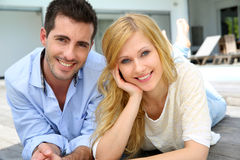 Cheerful young couple Stock Image