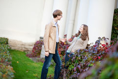 Cheerful young couple having a date Stock Photography