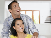 Cheerful Young Couple Stock Images
