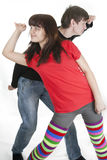 Cheerful Young Couple Looking Which Way Stock Photography