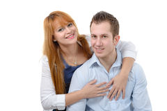 Cheerful young couple in love Stock Photo